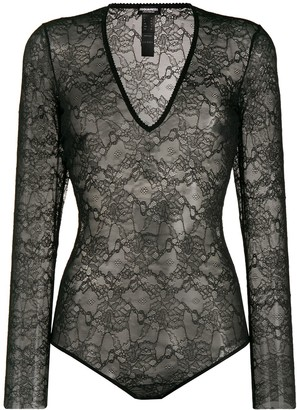 DSQUARED2 Sheer Lace Bodysuit