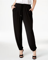 NY Collection Plus Size Drawstring Jogger Pants