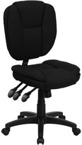 Witcher Mesh Task Chair Symple Stuff Upholstery Color: Black Fabric, Arms: Armless