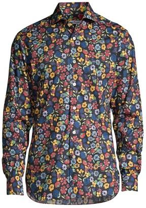 Kiton Floral Sport Shirt