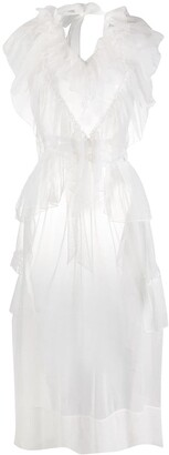 Simone Rocha Frilled Sheer Sleeveless Tunic