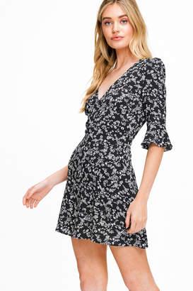 Montrez FLORAL V-NECK PARTY DRESS