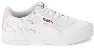 Puma Kid's Carina Marbled Glitter Platform Sneakers
