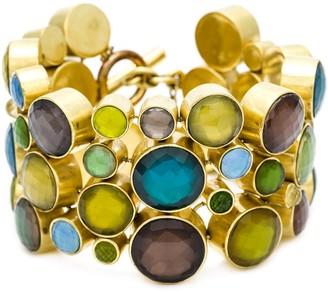 Vaubel 14kt Gold Multi Stone Circle Cuff