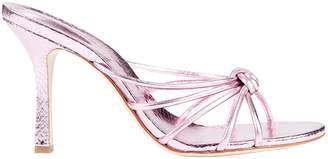 Schutz Rina Snake-Embossed Sandals