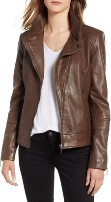 Bernardo Leather Moto Jacket