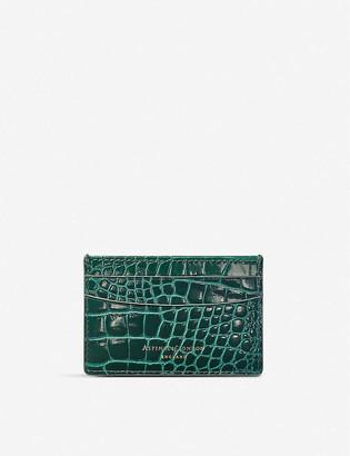 Aspinal of London New Slim crocodile-effect leather cardholder