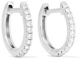 Anita Ko Huggies 18-karat White Gold Diamond Earrings