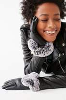 Urban Outfitters Vegan Leather Faux Fur Trim Glove