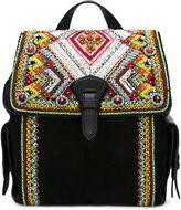 Roberto Cavalli bead embellished backpack purse - women - Leather - One Size
