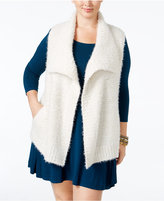 Style&Co. Style & Co Plus Size Eyelash Ribbed Vest, Only at Macy's