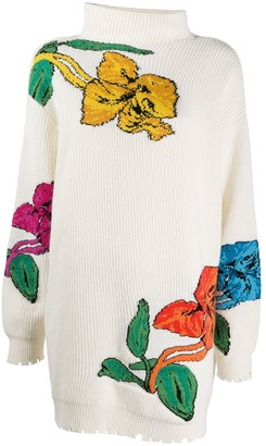 MSGM Floral Knitted Long Jumper