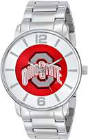 Game Time Men's COL-AP-OSU All Pro Slim Case Analog Display Japanese Quartz Silver Watch