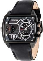 Police Men's Leather Band IP Steel Case Quartz Analog Watch 14698JSB/13A