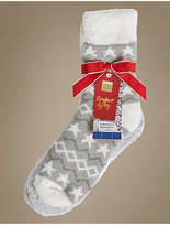 M&S Collection 2 Pair Pack Star Print Socks