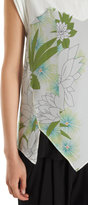 3.1 Phillip Lim Floral Print Cap Sleeve Layered Top