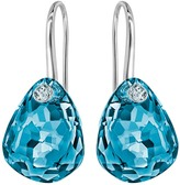 Swarovski Parallele Pierced Earrings, Blue, Palladium Plating