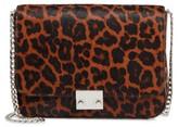Loeffler Randall Lock Genuine Calf Hair Shoulder Bag - Beige