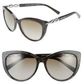 Michael Kors Women's 56Mm Cat Eye Sunglasses - Black/ Green