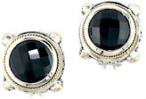 Effy Balissima Onyx, Sterling Silver and 18K Yellow Gold Stud Earrings
