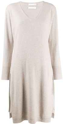 Fabiana Filippi V-Neck Sweatshirt Dress