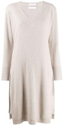 Fabiana Filippi V-Neck Sweatshirt Dress