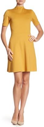 Vanity Room Short Sleeve Ponte Fit & Flare Dress