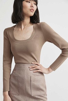 Witchery Scoop Neck Knit