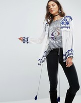 Raga Santorini Embroidered Tie Blouse