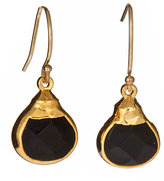 Gold Mini Pear Sarotte Onyx Earrings