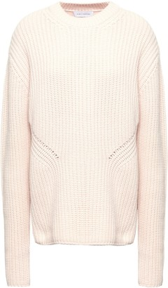 Ninety Percent Ribbed Merino Wool And Cashmere-blend Sweater