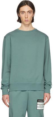 Maison Margiela Blue Elbow Patch Sweatshirt
