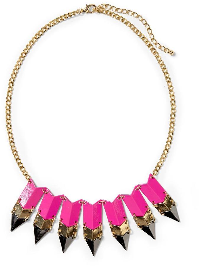 Pim + Larkin Tricolor Arrow Necklace