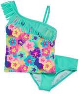 Freestyle Girls Floral Tankini Set - Big Kid