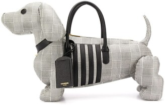 Thom Browne prince of wales print Hector bag