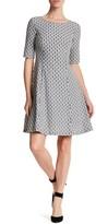 Eliza J Elbow Sleeve Print Dress