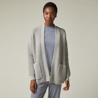 Love & Lore Aster Waffle Knit Cardigan Heather Grey Medium-Large
