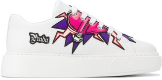 Prada Lightning Heart platform sneakers