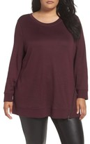 Sejour Plus Size Women's Zip Hem Sweatshirt