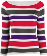 Emporio Armani ribbed knit striped jumper