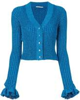 Marco De Vincenzo ruffled lurex cardigan