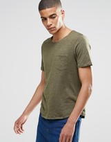 Selected Flase O-Neck T-Shirt in Green