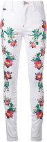 Philipp Plein floral panel trousers - women - Cotton/Spandex/Elastane - 26