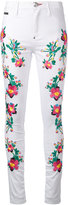 Philipp Plein floral panel trousers