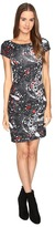 Just Cavalli Short Sleeve Cat and Tails Printed Jersey Dress Women's Dress