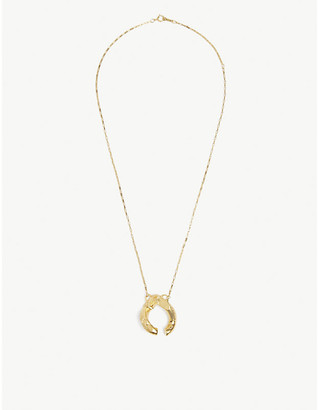 Alighieri Flashback 24ct yellow gold-plated bronze pendant necklace