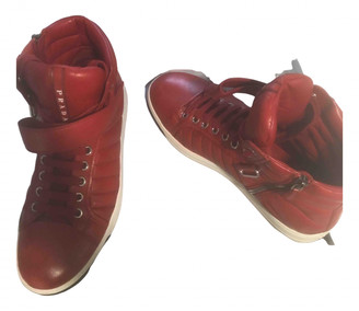 Prada Red Leather Boots