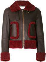 Chloé - shearling trim leather jacket