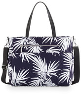 Milly Minis Childrenswear Palm-Print Diaper Bag, Navy