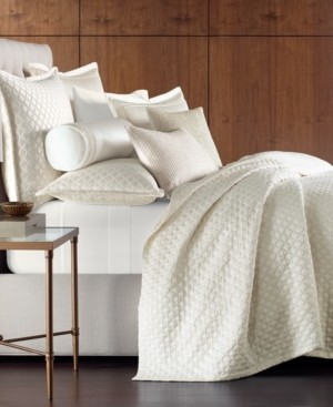 Hotel Collection Luxe Border 170-Thread Count Quilted Full/Queen Coverlet, Created for Macy's Bedding